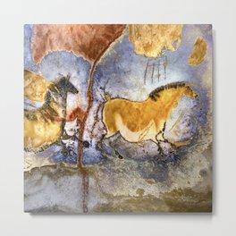 Lascaux Cave Horses I Metal Print