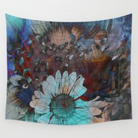 daisy Wall Tapestries featuring Daisy by haroulita