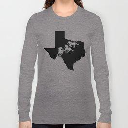 Texas American Quarter Horse Lover Black Long Sleeve T-shirt