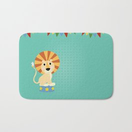 Circus Lion  Bath Mat
