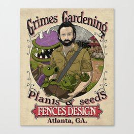 Grimes Gardening. Canvas Print