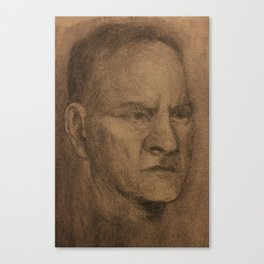 Portrait On Toned Fabriano Canvas Print