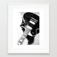 guitar Framed Art Prints featuring Guitar by Falko Follert Art-FF77