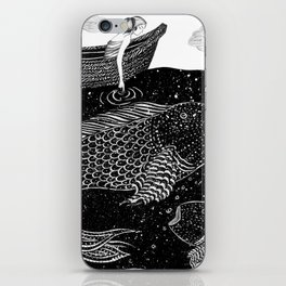 The Shimmering Sea Lights iPhone Skin