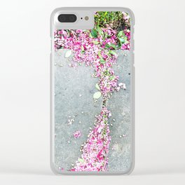 Pink  and Gray Clear iPhone Case