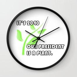 PLANT 4 PREZ Wall Clock