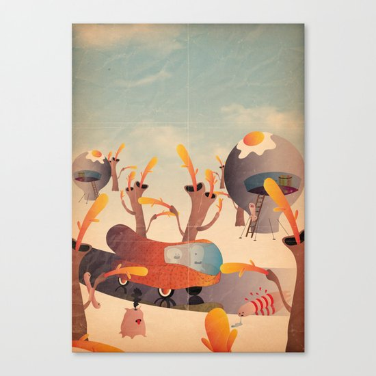 wurstel machine Canvas Print