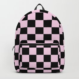 Light Pink and Black Check - more colors Backpack
