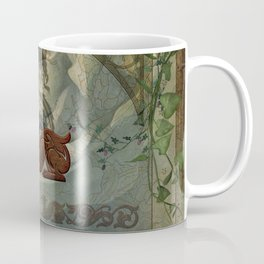 The dragons with vintage background Coffee Mug