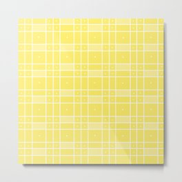 Yellow Squares and Dots Metal Print