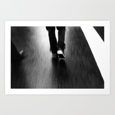 Street Walking Art Print