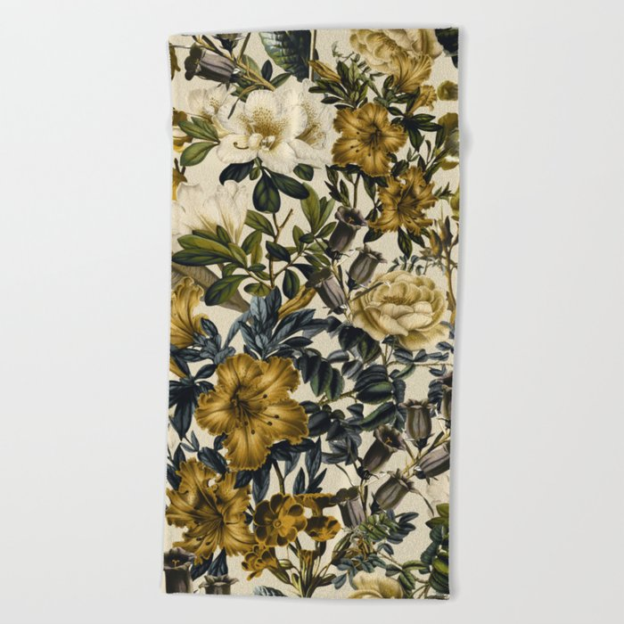 Warm Winter Garden Beach Towel