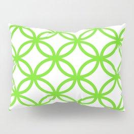 Interlocking Lime Green Pillow Sham
