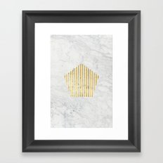 penta gOld Framed Art Print