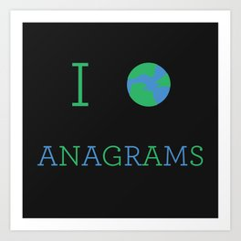 I heart Anagrams Art Print