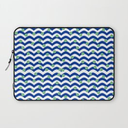 blue dotted waves Laptop Sleeve