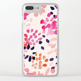 Flower abstract, watercolor floral pattern Clear iPhone Case