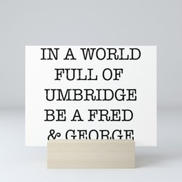 fred and george Mini Art Print