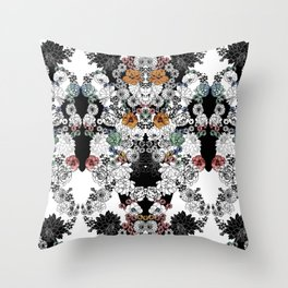 Simple Flowers Throw Pillow