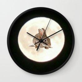 Moonrabbit 4 Wall Clock