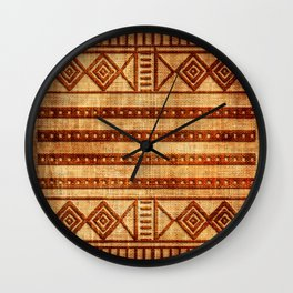 Embossed African Pattern Wall Clock