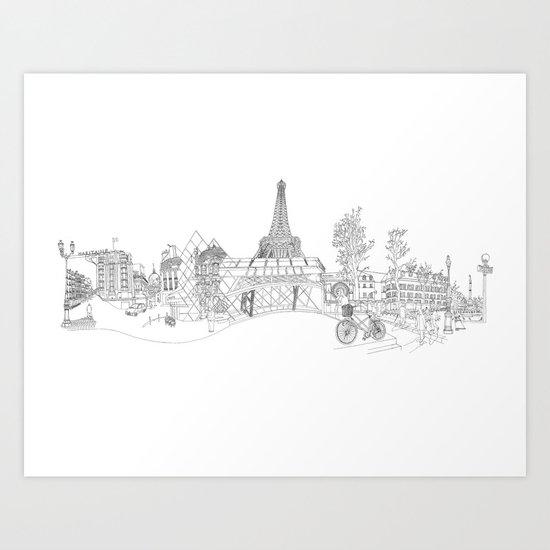 Paris! Version#1 Art Print