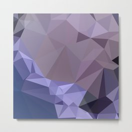 Dark Byzantium Purple Abstract Low Polygon Background Metal Print