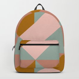 Modern Boho Geometric Pattern Backpack