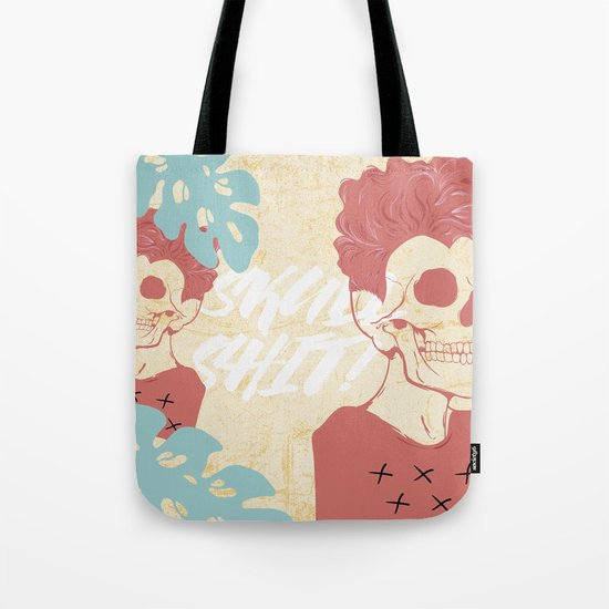 SKULL SHIT Tote Bag