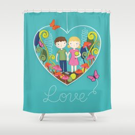 Terrarium For Two Shower Curtain