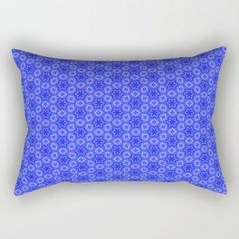 Pretty Feminine Flower pattern in blue, purple, lavender, teal Rectangular Pillow