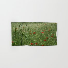 Seed Head With A Beautiful Blur of Poppies Background Hand & Bath Towel