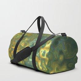 Green Yellow Gemstone Pattern Duffle Bag