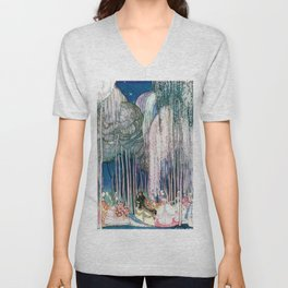 Kay Nielsen - Twelve Princesses Who Get Out Of The Castle And Dance To The Magical Kingdom Unisex V-Neck