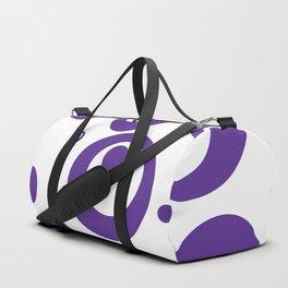 Circles Dots Bubbles :: Grape Juice Inverse Duffle Bag