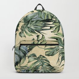 Palm Leaves Classic Linen Backpack