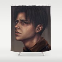 levi Shower Curtains featuring Levi Ackerman by trixdraws