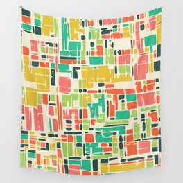 Road map abstract pattern Wall Tapestry