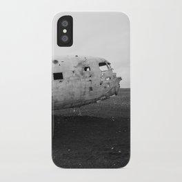 Iceland Plane Wreckage DC-3 iPhone Case
