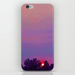 """""""Sultry Day Sunset"""" with poem: Stay iPhone Skin"""
