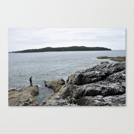 at the end of the world. Canvas Print