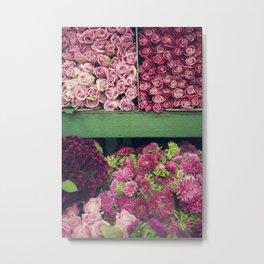 Flower Market Colorblock Metal Print