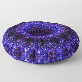 The Deepest Blue Flower Kaleidoscope Floor Pillow
