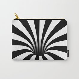 Optical Illusion Op Art Radial Stripes Warped Black Hole Carry-All Pouch