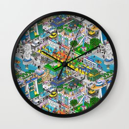 Pixels X Singapore Wall Clock