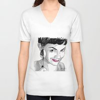 amelie V-neck T-shirts featuring Amelie and Spoon. by AmyLianneMuir