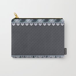 Blue plaid, plaid blanket, gray pattern, patchwork, folklore,  rustic style, elegant pattern, plaid Carry-All Pouch