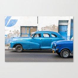 Vintage Blue Cars Canvas Print