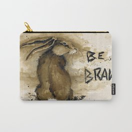 Be Brave Rabbit Carry-All Pouch