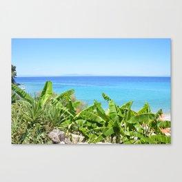 Samos, the sea Canvas Print